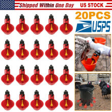 20Pack Poultry Drinking Cup Chicken Hen Plastic Automatic Drinker Quail Animal Supplies 50 sets chicken quail waterer poultry drinker cups 13 5mm pipe automatic bird coop feeder poultry chicken fowl drinker waterers