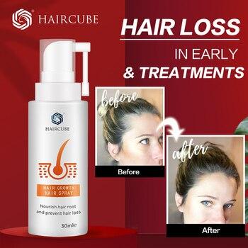 HAIRCUBE Hair Growth Spray Essential Oil Liquid Anti Hair Loss Essence Serum for Hair Growth Oil Natural Hair Care Products hair relaxers matrix p1087800 hair care products recovery cream serum masks