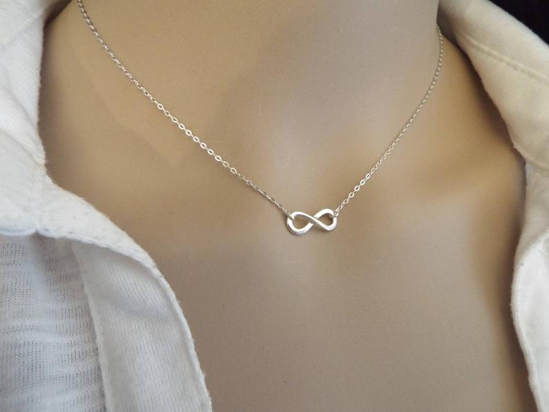 Stainless Steel Couple Promise Necklace Minimal Infinity Pendants Necklaces Wedding Jewelry 2019 Collares Mujer Best Friend Gift