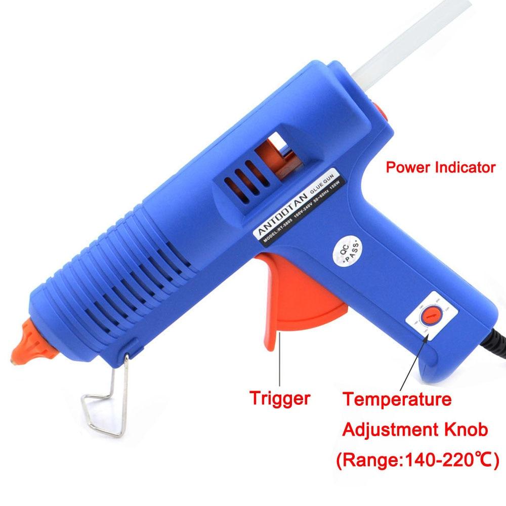 Spina UE 150W BULE Pistola per colla a caldo con strumento di - Utensili elettrici - Fotografia 2