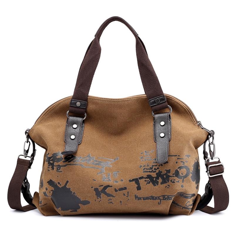 Female Handbag Women Crossbody Bags Large Thicken Canvas Casual Tote Messenger B