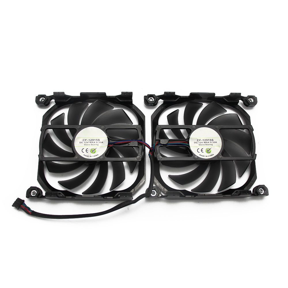 Купить с кэшбэком 2pcs/set Inno GTX1070TI/1070 GPU VGA Card Cooler Cooling Fan Replacement For INNO3D GEFORCE GTX 1070 GTX1070 TI X2 V2 Graphics