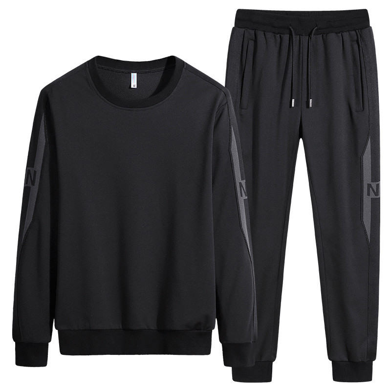New Men'S Sportswear Suit Spring And Autumn Sets Young Male And Student Fashion Tracksuit Plus Size 7XL 8XL Casual  Clothes