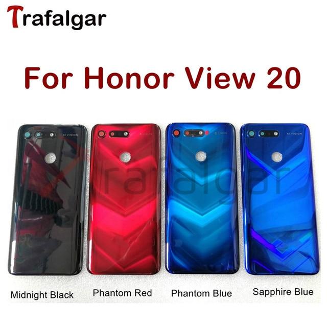 Para huawei honor view 20 capa de bateria v20 traseira do painel vidro porta traseira habitação caso para honor view 20 bateria capa PCT L29