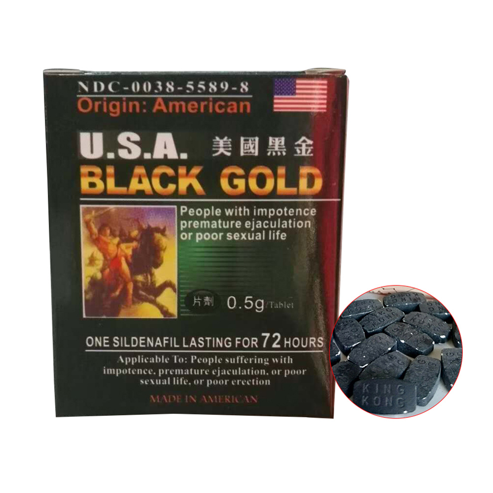 New American Black Gold 16 Pills Male For Men Natural Enhancement Good For Physical Mental Health