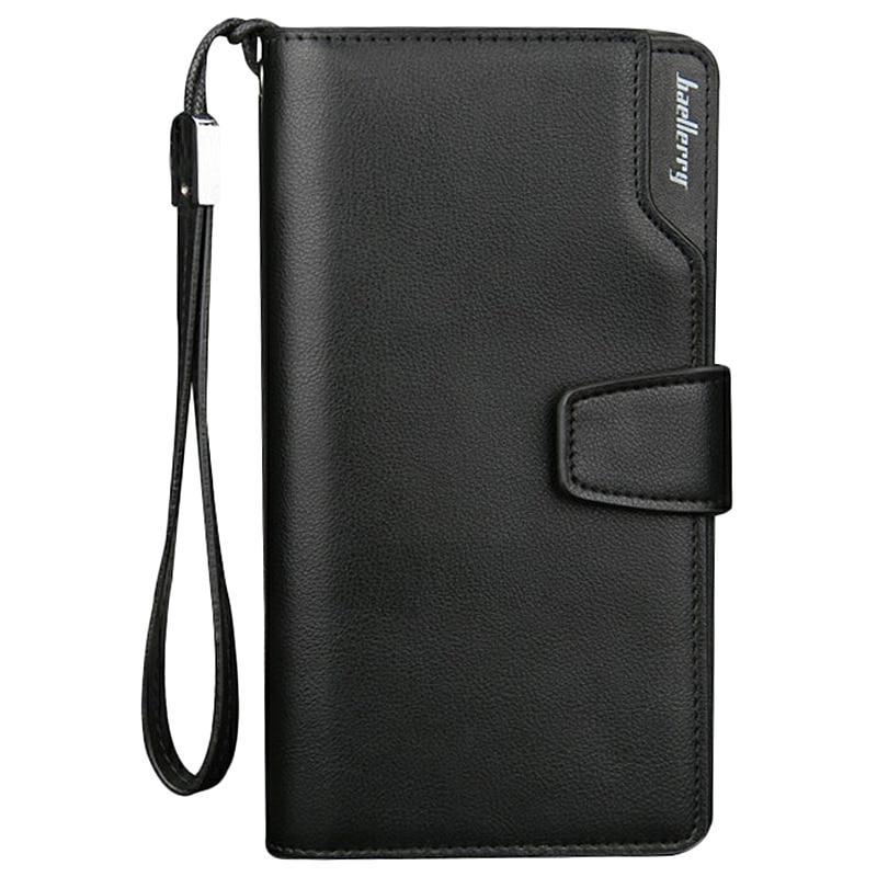 Baellerry Men Wallets Long Men Purse Wallet Male PU Zipper Multi-Function Wallet