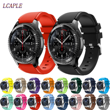 Fashion Sports Silicone Watch Strap For Samsung Gear S3 Band wrist Bracelet & Newest Frontier/Classic 22mm smart watch watchband цена 2017