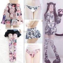 Anime meninas cosplay moletom com capuz pullovers meias dos desenhos animados impresso lolita veludo conjuntos de fantasia menina natal presente ahg