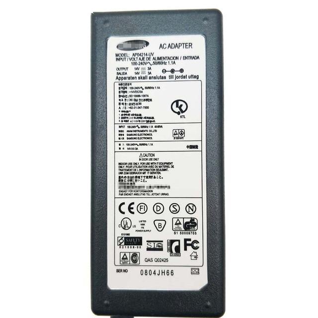 14V3A Led Display a Cristalli Liquidi Dello Schermo di Adattatore di Alimentazione Caricabatterie per Il Samsung AD-2014B PS30W-14J1 S24E390HL S22E360H S19B360BW