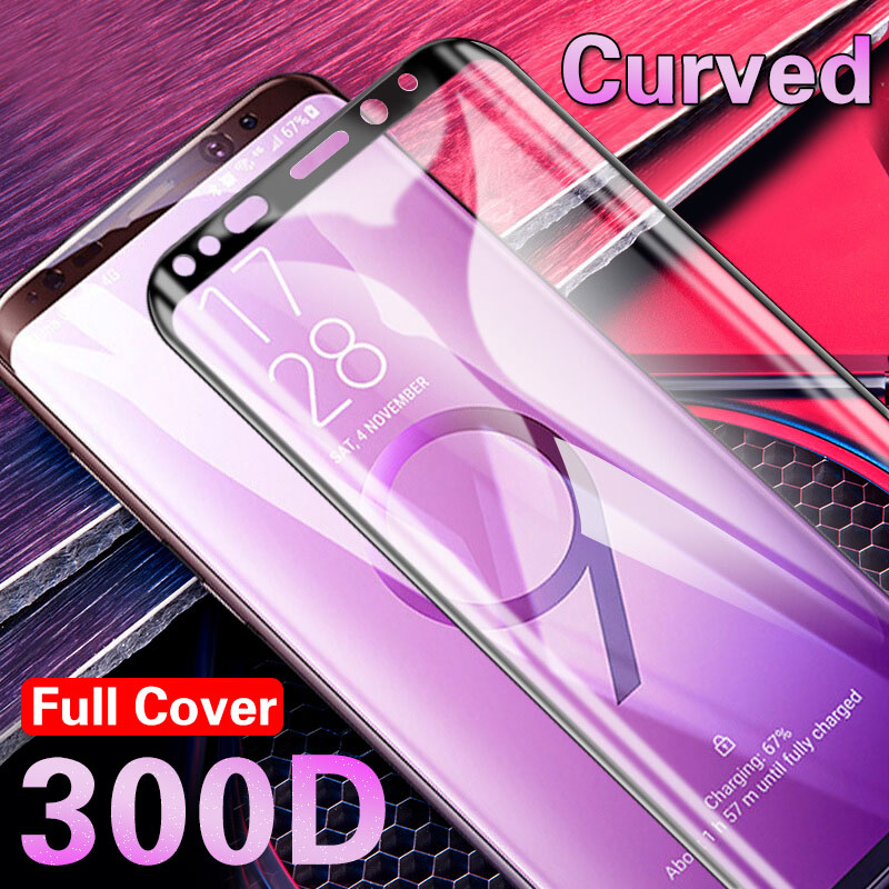 300D Full Curved Tempered Glass For Samsung Galaxy S8 S9 Plus Note 9 8 Screen Protector For Samsung S7 S6Edge S9 Protection Film