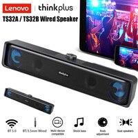 Lenovo-altavoz inalámbrico TS32, dispositivo de Audio con Cable USB, modo Dual, BT5.0, para PC/TV
