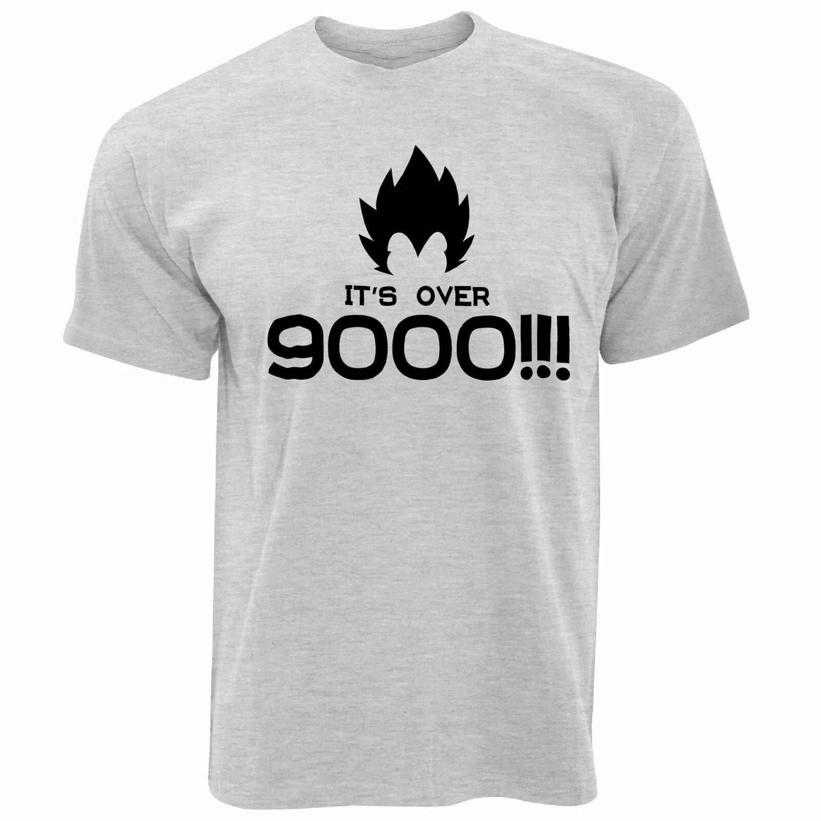 Nouveauté Anime parodie T shirt C/'est plus de 9000!! Slogan Blague Manga Série TV