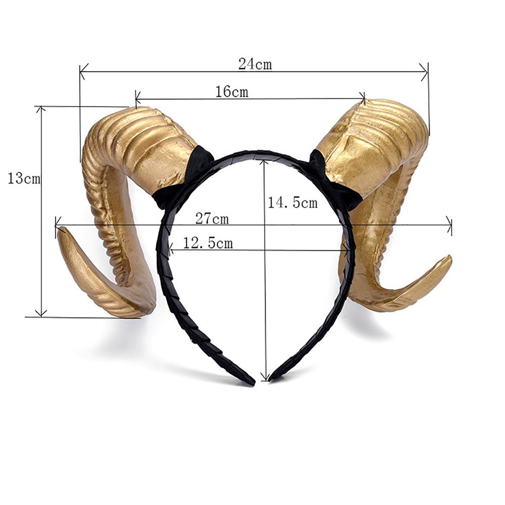 Ram Horns Headband Christmas Halloween Goat Sheep Ears Headdress Headgear