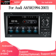 Android 10 Auto Multimedia Dvd Stereo Radio Gps Navigatie Carplay Auto Voor Audi A8/S8(1994-2003) 2din