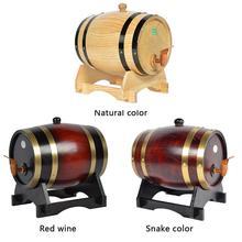Meşe çam şarap fıçısı depolama özel varil 1.5L 3L depolama kovası bira fıçılar bira viski rom Port özellikleri Bar aracı