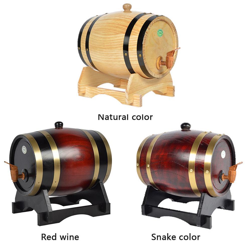 Oak Pine Wine Barrel เก็บบาร์เรลพิเศษ 1.5L 3L เก็บถังเบียร์ Casks สำหรับเบียร์วิสกี้ Rum PORT ลักษณะบาร์เครื่องมือ