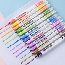 12colors/Set Discolored Highlighter Stationery Magic Color Markers Pen For Drawing Key Marker Spot Liner Pens Scrapbooking