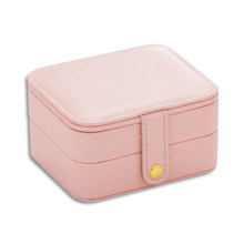 Multilayer Storage Box Travel Leather Gift Bag Small Portable Earring Ring Organizer Casket Accessories Jewelry Case(China)