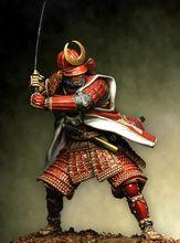 Suporte guerreiro antigo de 1/18 90mm, com espada e base, figura de resina modelo kits, miniatura gk desmontagem, não pintada