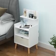 Современный прикроватный столик, полка в скандинавском стиле, маленькая спальня, простой и экономичный