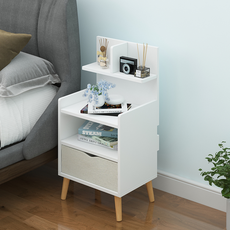Are Contracted And Contemporary Bedside Table Shelf Nordic Small Bedroom Receive Store Content Simple And Economical