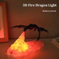 2020 i più nuovi Dropship 3D Stampato LED Drago Lampade Come Luce di Notte Per La Casa Vendita Calda Di Luna Lampada di Notte Della Lampada best Regali Per I Bambini