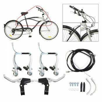 Rower górski V dźwignia hamulca i kabel (przód + tył) zestaw hamulca rower górski pełny hamulec ze stopu aluminium V kompletny rower ze stopu tanie i dobre opinie CN (pochodzenie) V hamulca (cierne hamulca koła) Other