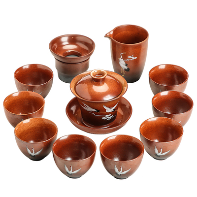 Ceramic Chinese Stone Pottery Tea Set 4