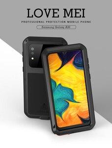 Image 2 - Aşk MEI samsung kılıfı Galaxy A30 A30S A50 A50S A70 A70S güçlü Metal zırh şok kir geçirmez su telefon kılıfları a40s A20
