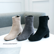 Elegant Ankle Boots Ladies Sexy Heels Women Winter Autumn 2019 New Slip On Black Fashion Brown
