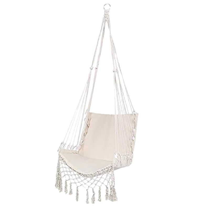 Hd392abd138c44382b0cd358fc45d4d0e7 Nordic Style Hammock Safety Beige Hanging Hammock Chair Swing Rope Outdoor Indoor Hanging Chair Garden Seat for Child Adult