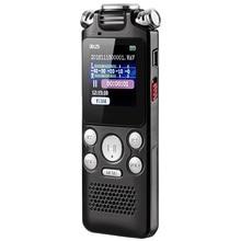 הפחתת רעש USB טעינת צבע תצוגת הופעל דיקטפון הדיגיטלי מיני מקליט קול דו כיוונית מיקרופון A B חוזר