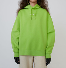 Solid Color Hoodie Lady Long Drawstring Black Green Purple Hooded Pullover Tops