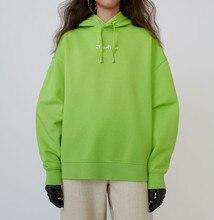 Solid Color Hoodie Lady Long Drawstring Hoodie Black Green Purple Hooded Pullover Tops drawstring contrast color pocket pullover hoodie