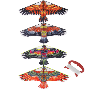 1M Flat Eagle Kite With 30 Meter Kite Line Children Flying Bird Kites Windsock Outdoor Toys For Kids Gift Garden Cloth Toy