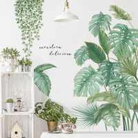1Pc DIY Tropical Palm Leaves Wall Sticker Modern Art Decal Vinyl Mural Wall Stickers For Kids Rooms Home Decor