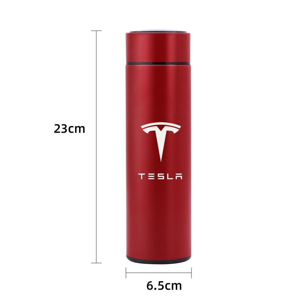 Vacuum Flasks Led For Tesla Model 3 4 Digital Temperature Display Stainless Steel Insulation Mugs Intelligent Thermo Cups Vehicle Heating Cup Aliexpress