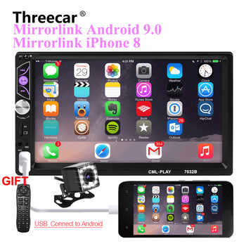 Mirror link Android 9.0 2 din car radio autoradio 7'' Multimedia Player Bluetooth handsfree FM/TF/USB Rearview Camera Car Radio - DISCOUNT ITEM  33% OFF All Category