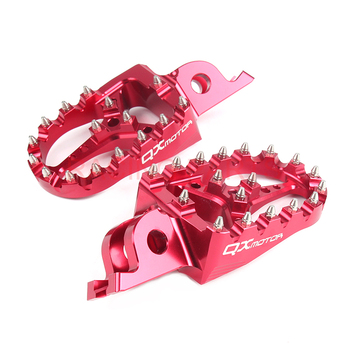 цена на CNC Billet MX Foot Pegs Rests Pedals Footpegs For crf450r crf 450 crf250r crf250x CR125/250 Motorcycle Free Shipping
