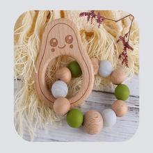 Diy детские игрушки для фитнеса Деревянные Зубы шлифовки Мультяшные