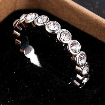 2020 New Fashion Jewelry Women Wedding Rings Round Cut White Zircon Ring Size 6-10 Christmas Gift 1