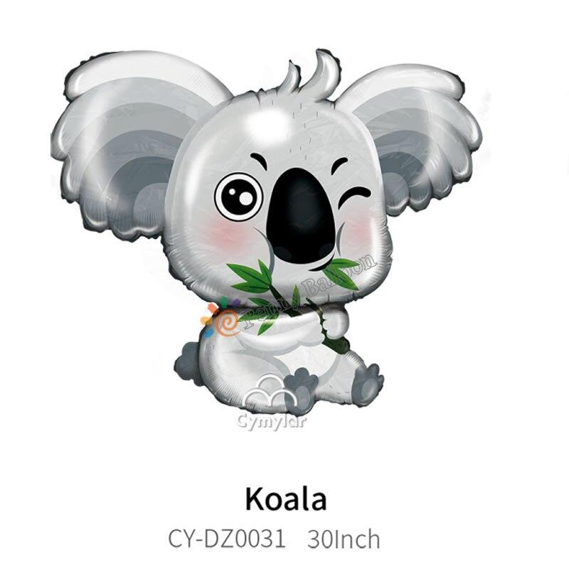 Джамбо-30 дюймов коала воздушных шаров в форме коалы медведь воздушный шар с гелием Baby Shower забавные животные тема вечерние День рождения веч...