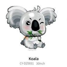 Jumbo 30 polegada koala balão koala urso hélio balão chá de fraldas tema animal festa de aniversário decoração brinquedos globos