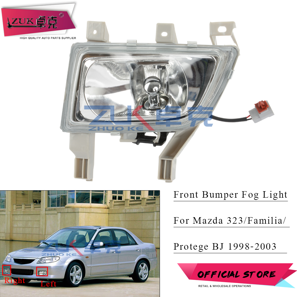 For Mazda 323 Familia Protege BJ 1998 1999 2000 2001 2002 2003 Front Bumper Fog Light Fog Lamp Foglight Foglamp Reflector