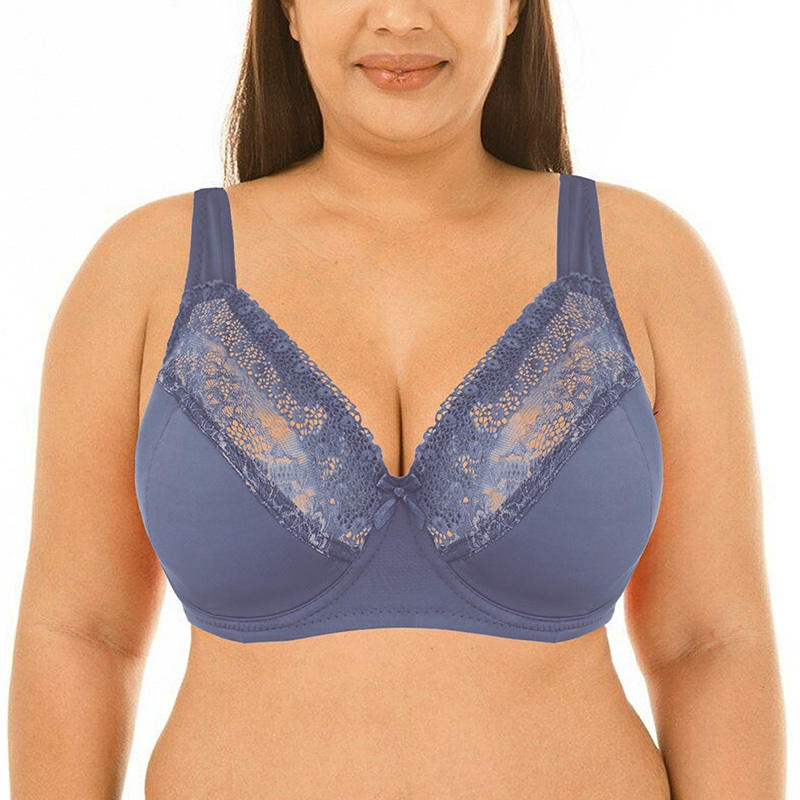 Sexy Women Bra Lace Big Bralette Full Cup Underwired Support Bra Top Lingerie Plus Size 40 42 44 46 48 50 DD E F FF G Cup