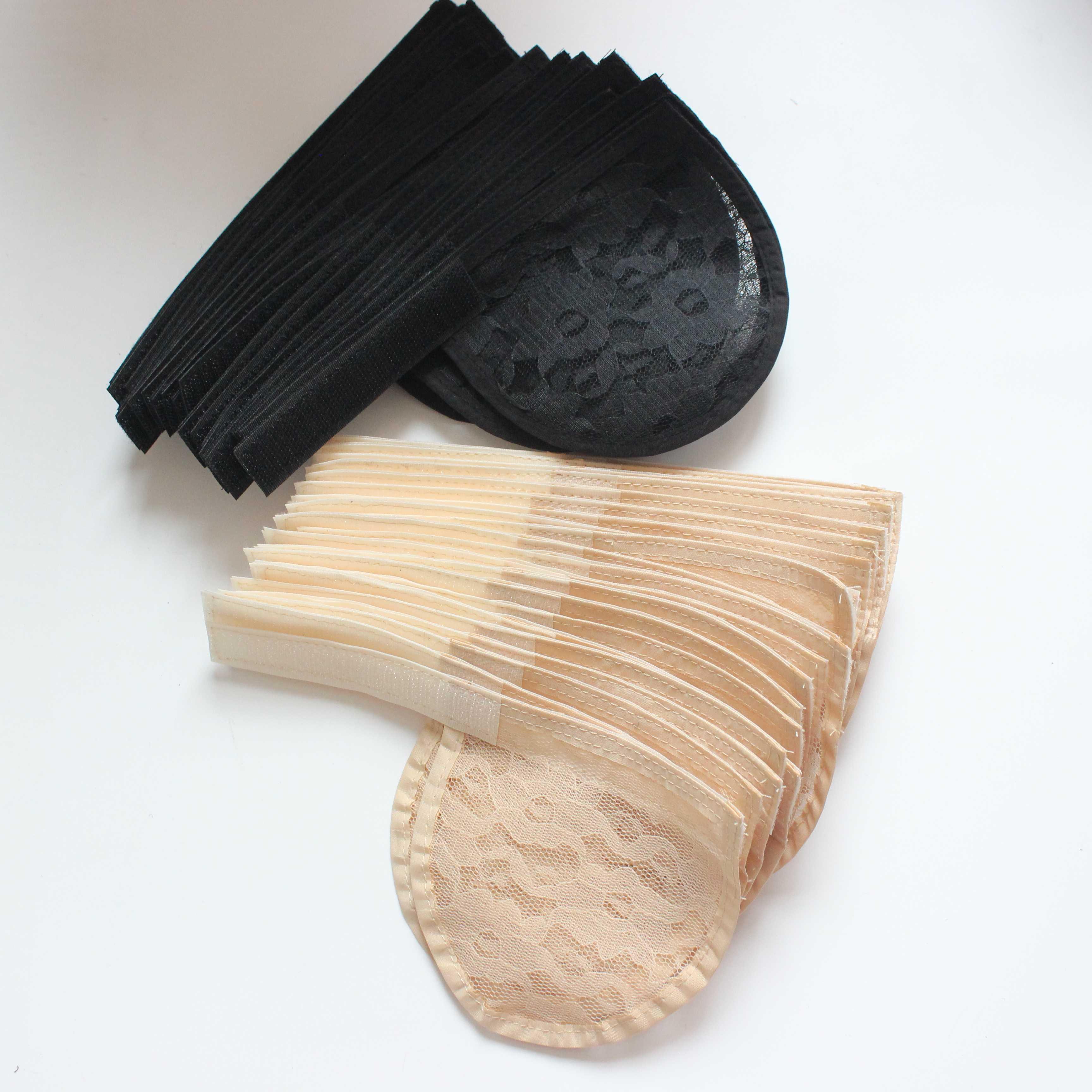 5 piezas de red para el cabello que hace la Peluca de cola de caballo correa ajustable en la parte trasera de la gorra de tejido sin pegamento tapa de la peluca de buena calidad