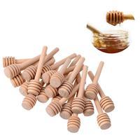 30 pièces 3 pouces Mini miel remuer barre bois miel Dipper bâtons serveur pour miel pot remuant bâtons cuillère miel bâton outils de cuisine|Cuillères| |  -