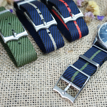 New Design Nato French Troops Parachute Bag For Tudor Black Bay Watch Strap Nylon Nato Strap 20mm 22mm For Brand Military Watch