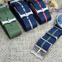 Nowy projekt francuskich żołnierzy torba spadochronowa dla Tudor Black Bay pasek zegarka nylonowy pasek w barwach nato 20mm 22mm dla każda marka zegarków