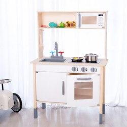 Экспорт детский игровой домик деревянная детская кухонная игрушка есть модель набор кухонной посуды день рождения девочки провинции Чжэцз...
